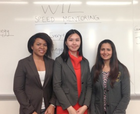 (Left to Right) Onyeka Enwerem, Vice President and Director of Finance; Yoyo Wu, President of WiL; Kanupriya Verma, Director of Marketing