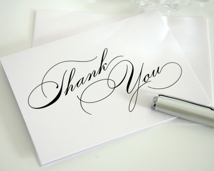 UC Davis MBA--Thank you notes