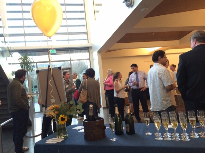 UC Davis MBA--Champagne Welcome with the Deans--3.Mixing and mingling at the event.